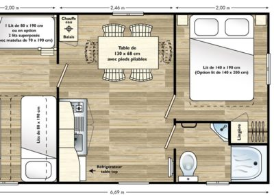 Mobil home lodge 6